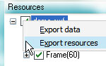 Click to view the detailed steps of exporting resources